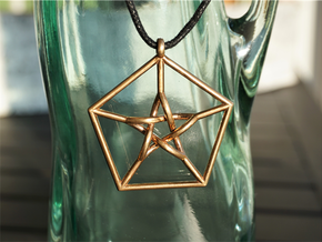 Petersen Graph Pendant in Natural Bronze