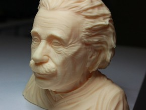 Einstein bust in White Natural Versatile Plastic