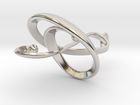 Treble Clef Pendant in Precious Metals in Rhodium Plated Brass