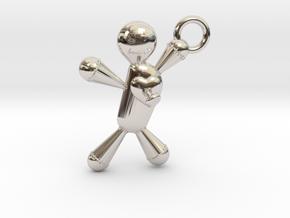 Voodoo Doll pendant in Platinum