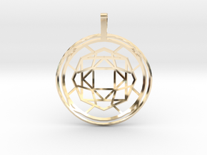 Soul Force (Domed) in 14K Yellow Gold