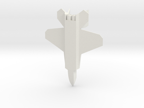 Raptor Jet in White Natural Versatile Plastic