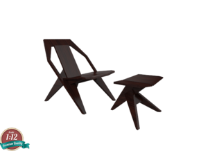 Miniature Medici Chair - Konstantin Grcic  in Smooth Fine Detail Plastic: 1:12