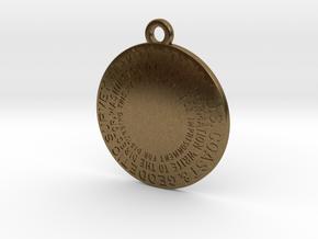 Gravity Station Keychain in Raw Bronze