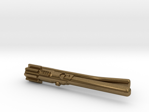 Star Wars: Light Saber Tie Clip for Skinny ties in Natural Bronze