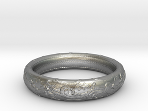 leaf Ring (various sizes) in Natural Silver: 7.5 / 55.5