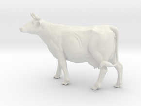 Printle Thing Cow - 1/24 in White Natural Versatile Plastic