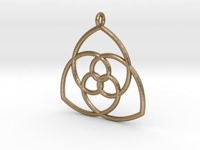Gielis' Curve Pendant in Polished Gold Steel