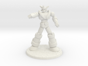 Big Science Retro-Mecha - 6mm Scale, with Base in White Natural Versatile Plastic: 6mm