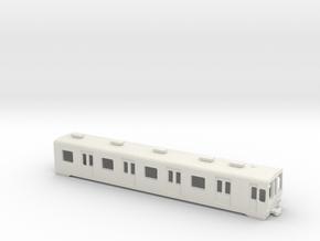 Carcasa S5000 Metro Madrid Underground 1:160 in White Natural Versatile Plastic