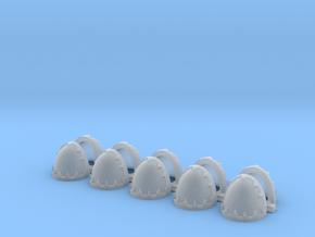 Blank evil rimmed Shoulders - Rebuilt 008a in Smooth Fine Detail Plastic