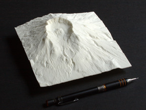 6'' Mt. St. Helens Terrain Model, Washington, USA in White Natural Versatile Plastic
