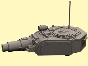 28mm Invader tank turret in White Strong & Flexible Polished