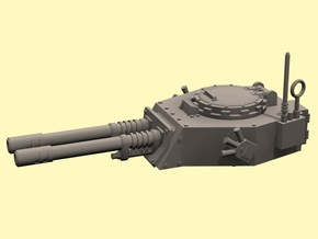 28mm APC turret with 2x auto guns in White Processed Versatile Plastic
