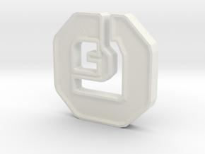 Shanix Coin in White Natural Versatile Plastic: Medium