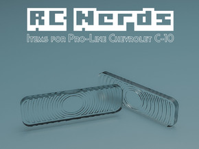 RCN038 Front upper lights lens for Chevy 66 PL in Frosted Ultra Detail