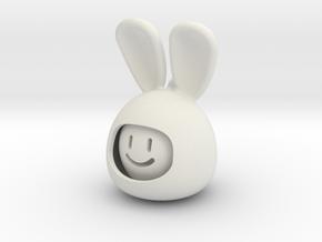emoji RABBIT  in White Natural Versatile Plastic