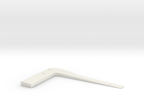 Wedgie 1 in White Natural Versatile Plastic