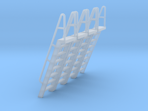 HO Scale Ladder 8 in Smooth Fine Detail Plastic