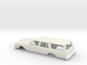1/43 1988 Chevrolet Caprice Station Wagon in White Natural Versatile Plastic