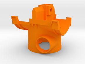 Wurfradgehäuse für Doppelschleuder (Bruder Umbau) in Orange Processed Versatile Plastic