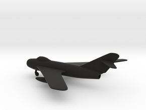 MiG-17 Fresco in Black Natural Versatile Plastic: 1:160 - N