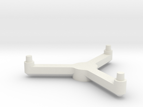 Omni Scale Stand Three-Prong Stand Topper SRZ in White Natural Versatile Plastic