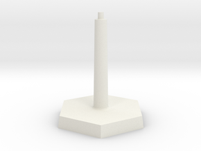 Omni Scale Stand Single Flight Stand WEM in White Natural Versatile Plastic
