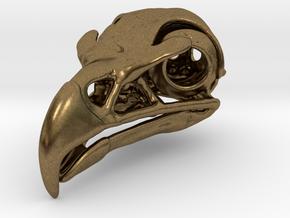 Eagle Skull Pendant in Natural Bronze