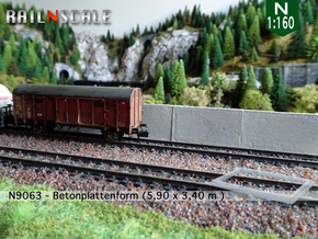 N9063 - Betonplattenform (N 1:160) in Smooth Fine Detail Plastic