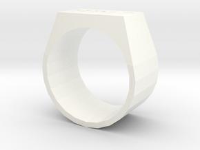 HP17 Ring in White Processed Versatile Plastic: 5 / 49