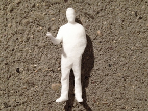 Architectural Man - 1:50 - Presenting  in White Natural Versatile Plastic