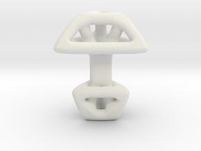 Triangular Cufflink in White Natural Versatile Plastic