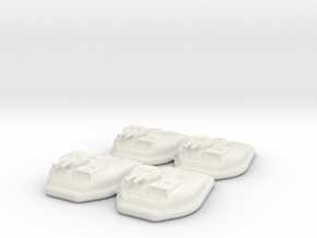 6mm Scale Sci-Fi Hover Tank (Set of 4) in White Natural Versatile Plastic