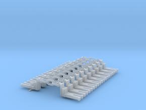 NEM OO Type 43 Couplings - Big-Step Up 3 Link x10 in Smooth Fine Detail Plastic