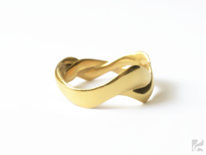 Smooth Weave Ring in 14k Gold Plated: 6.5 / 52.75
