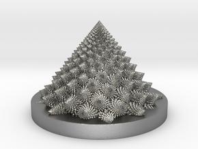 Romanesco fractal Bloom zoetrope in Natural Silver: Medium
