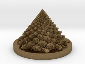 Romanesco fractal Bloom zoetrope in Natural Bronze: Medium