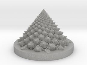 Romanesco fractal Bloom zoetrope (more resolution) in Aluminum: Medium