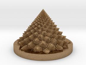 Romanesco Bloom (backwards, more resolution) in Natural Brass: Medium
