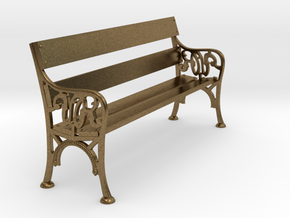 Victorian Railways Bench Seat 1:19 Scale in Natural Bronze