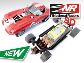 3D Chassis - MRRC Cheetah - Inline in Black Strong & Flexible