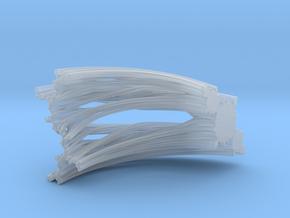 Quarter Unit Circle Julia Sets (45°, filled) in Smooth Fine Detail Plastic