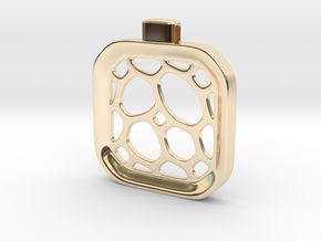 Surround ::: Square Pendant ::: v.01 in 14k Gold Plated Brass