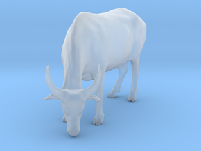Domestic Asian Water Buffalo 1:35 Grazing Female in Smooth Fine Detail Plastic
