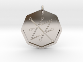 Seal of Saturn in Rhodium Plated Brass