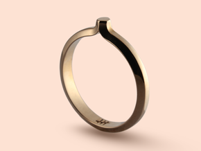 Shapesweeper Hexagonal Basic Ring in Polished Bronze: 5.5 / 50.25