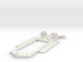 Chassis for SCX Peugeot 206 WRC in White Natural Versatile Plastic