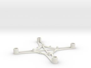 ST_drone_frame_v1_r6_btm_t2030+ in White Strong & Flexible