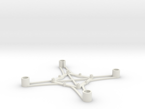 ST_drone_frame_v1_r6_btm_t2025+ in White Strong & Flexible